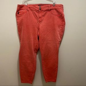 Torrid Coral Skinny Jeans